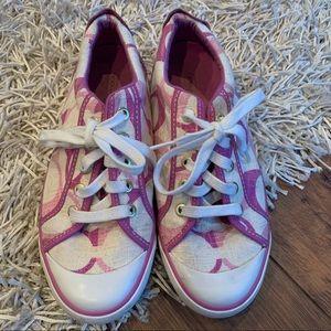 Pink Coach kicks! Size 8 B GUC